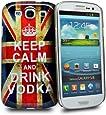 Accessory Master Coque rigide en plastique pour Samsung Galaxy S3 i9300 Keep Calm and Drink vodka