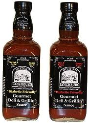Lynchburg Tennessee Whiskey Sweet & Mild SUGAR FREE Gourmet Deli & Grillin' Sauce