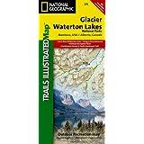 Glacier/Waterton Lakes National Parks, Montana, USA/Alberta, Canada: Outdoor Recreational Map