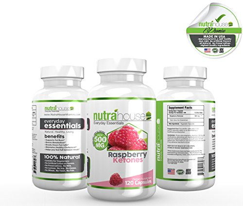 Pure Raspberry Ketones 500 Mg Additive Free By Nutrahouse Vitamins. All Natural Weight Loss, Non-Stimulant Fat Burner. Raspberry Ketones Support Natural Weight Management. Purest Raspberry Formula. Natural Appetite Suppressant & Weight Loss Supplement