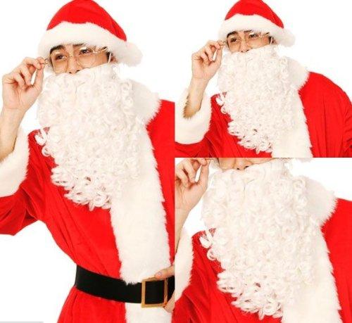 Ezia サンタ ヒゲ 帽子 デコシール サンタクロース クリスマス イブ コスプレ 衣装 イベント
