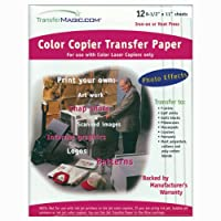 Transfer Magic Color Copier Transfer Paper-8-1/2X11 12/Pkg