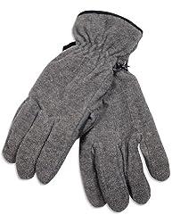 Winter Warm-Up - Mens Fleece Gloves, Grey 28508-Large