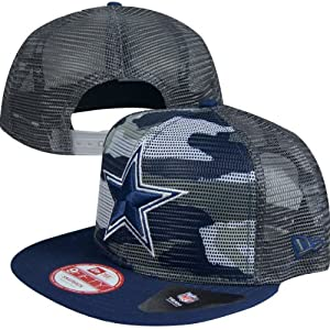 Dallas Cowboys TEAM NEON CAMO SNAPBACK 9Fifty Mesh New Era NFL Hat = Med Large by Fanzz