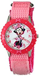 Disney Kids' W001918 Minnie Mouse Analog Display Analog Quartz Pink Watch