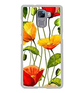 Flower Wallpaper 2D Hard Polycarbonate Designer Back Case Cover for Huawei Honor 7 :: Huawei Honor 7 Enhanced Edition :: Huawei Honor 7 Dual SIM
