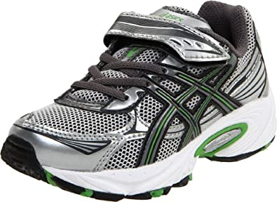 ASICS Pre Galaxy 5 PS Running Shoe (Toddler/Little Kid),Silver/Charcoal/Green,13 M US Little Kid