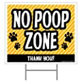 Imagine This No Poop Zone Yard Sign, Yellow