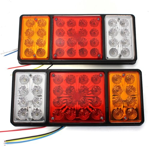 Maxsale 12V Pair 32 Led Tail Lights For Ute Trailer Truck Caravan Tail Lamps
