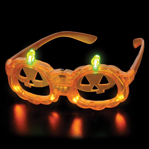 Jack-O-Lantern Led Sunglasses - Halloween ~ Light Up Glasses