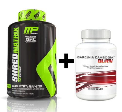 Shred Matrix (120 Capsules) & Garcinia Cambogia Burn - Ultimate Fat Burning, Weight Loss Combination. Double Your Results!