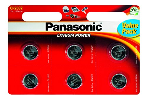 Panasonic Pack de 12 Piles Boutons Lithium CR2032