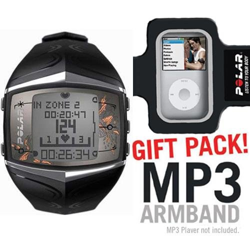 Cheap Polar FT60 Heart Rate Monitor Female Black with MP3 Armband (B003KIWMI2)