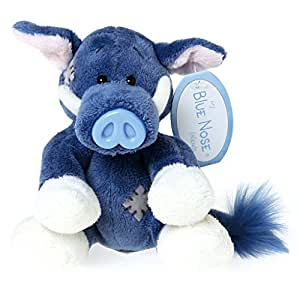 """Tatty Teddy & My Blue Nose Friends Trotters the Wild Boar soft toy, sits 4"""" tall."""