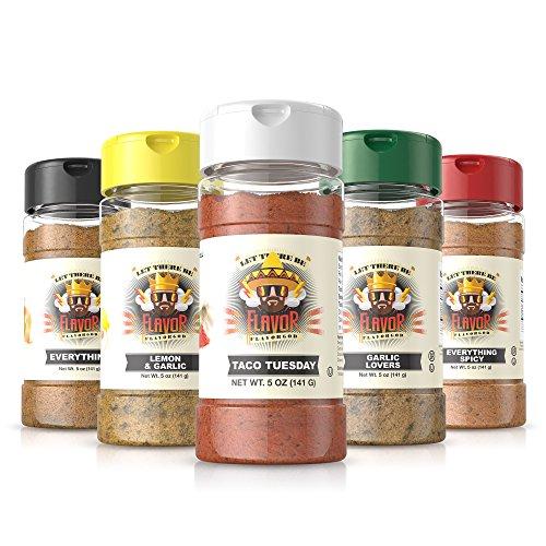 #1 Best-Selling 5Oz. Flavor God Seasonings (5 Bottle Taco Tuesday Combo Pack)