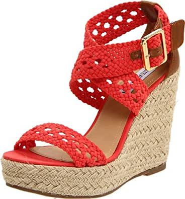 Steve Madden Women's Magestee Wedge Sandal,Coral,9 M US