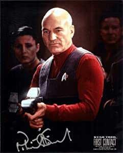 Star Trek Patrick Stewart in The Next Generation Signed Autographed 8 X 10 RP Photo - Mint Condition