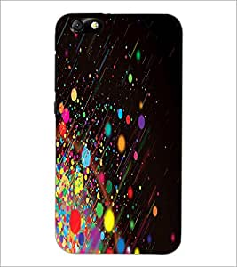 PrintDhaba Colour Blast D-2024 Back Case Cover for HUAWEI HONOR 4X (Multi-Coloured)