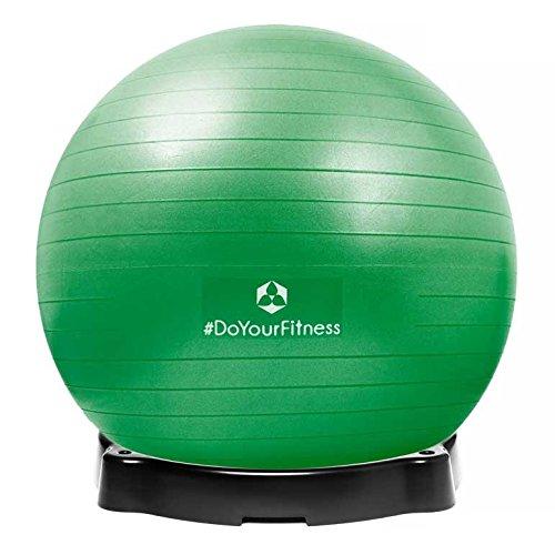 gymnastikball-orion-inklusive-ballschale-robuster-sitzball-und-fitnessball-85-cm-grun-inklusive-sitz