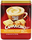 HILLS BROS CAPPUCCINO WHITE CHOCOLATE CARAMEL DRINK MIX 453g TUB AMERICAN