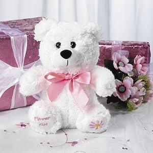 "Plush ""Flower Girl"" Bear by Fun Express"