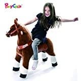 Smart Gear Pony Cycle Chocolate, Light Brown, or Brown Horse Riding Toy: 2 Sizes:  World's First Simulated Riding Toy for Kids Age 4-9 Years Ponycycle Ride-on Medium (Color: Brown, Tamaño: Medium/5-9 Years)
