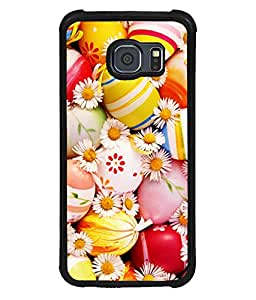 printtech Easter Eggs Flowers Colored Back Case Cover for Samsung Galaxy S6::Samsung Galaxy S6 G920
