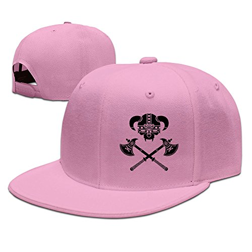 Custom Unisex Pink Adjustable Cool Viking (custom Color) Snapback Flat Caps One Size (Kansas State Chef Hat compare prices)