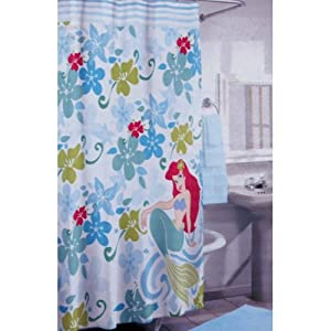 Disney 39 s little mermaid 100 cotton shower curtain disney bath decor - Little mermaid bathroom ideas ...