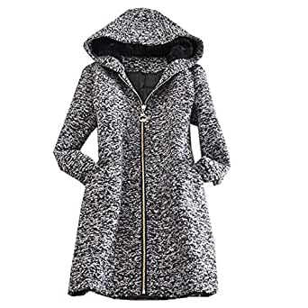 zeagoo damen winter cape parka jacke fledermaus batwing wolle ponchos mantel bekleidung. Black Bedroom Furniture Sets. Home Design Ideas