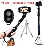 Everything Imported Yunteng Selfie Stick YT1288 and YT188 With Various Combo Octopus Tripod and Telescopic Tripod Combos Bluetooth Shutter Remote Combo and Much More Explore Now (Yunteng YT188 With Telescopic Tripod And Bluetooth Remote)