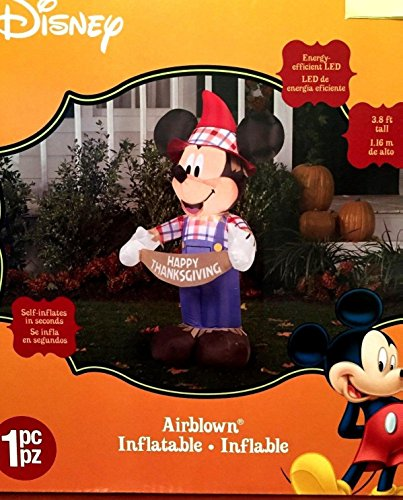Mickey mouse thanksgiving inflatable foot scarecrow