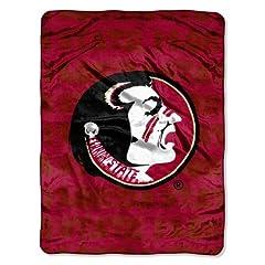 Buy NCAA Florida State Seminoles 46-Inch-by-60-Inch Micro-Raschel Blanket, Grunge Design by Northwest