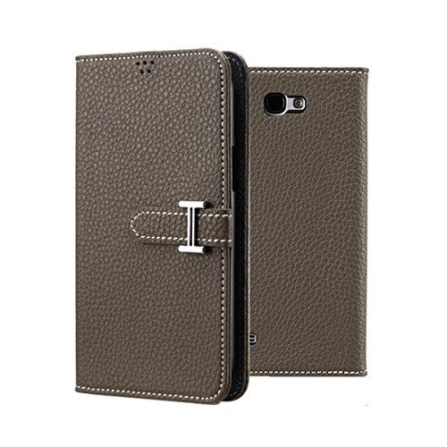 Galaxy S4 ケース P2J Classic Honourable Flip Case ギャラクシー S4 手帳型 フリップ ケース カーキ(Khaki) / 携帯 スマホ スマートフォン モバイル ケース カバー ダイアリー 手帳 ケース カード 収納 ポケット スロット スタンド