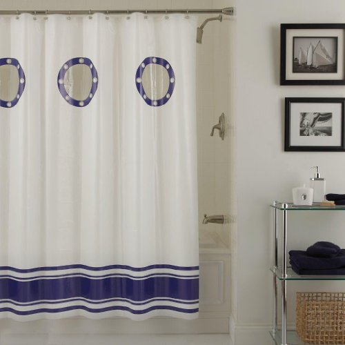 Lorraine Home Fashions Porthole Shower Curtain 70 Inch By 72