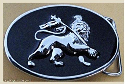 Rastafarian Lion of Judah Circle Shaped Belt Buckle