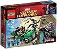 Lego Super Heroes - Marvel - 76004 - Jeu de Construction - La Poursuite en Moto-Araignée - Spider-Man