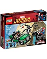 Lego Super Heroes - Marvel - 76004 - Jeu de Construction - La Poursuite en Moto-Araignée - Spider-Man