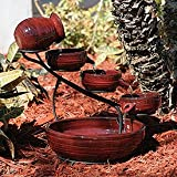 Smart Solar 23941R01 Lava Red Finish Lava Ceramic Solar Cascade
