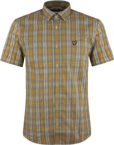 lyle-scott-vintage-short-sleeve-tartan-shirt-gr-medium-london-fog