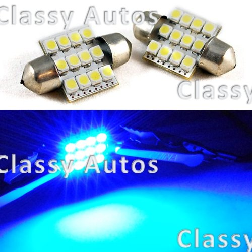 31mm Festoon 12 LEDs SMD LED Bulb ULTRA BLUE