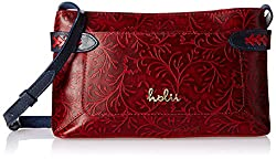 Holii Women's Handbag (Red and Blue)