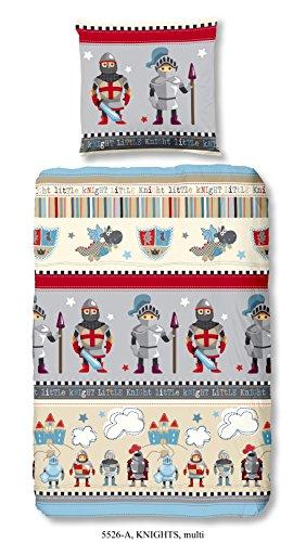 Aminata-Kids-exklusive-Jungen-Kinder-Bettwsche-135x200-cm-Ritter-aus-hochwertiger-Baumwolle-mit-Reiverschluss-grau