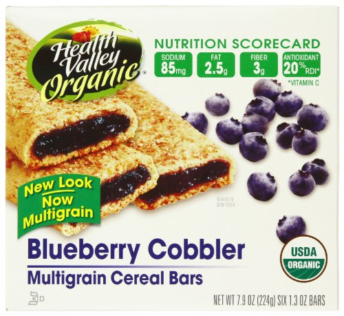 Health Valley Cobbler Cereal Bars, Blueberry, 6-Count 7.9-Ounce Boxes (Pack of 6)