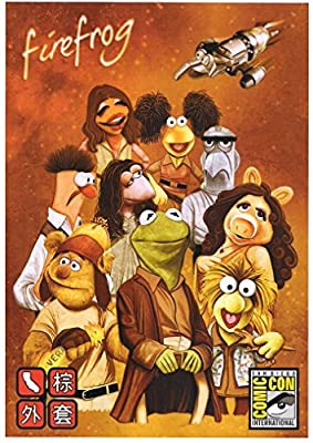 """Muppets Firefox Spoof Poster """"Firefrog"""" 8.5 x 11 icnhes SD Comic Con"""