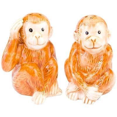 Charles Sadek Import Co - Monkeys Smiling Salt & Pepper Shakers by Charles Sadek Import Co