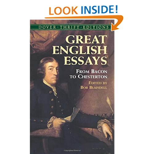 Great English Essays: From Bacon to Chesterton (Dover Thrift Editions)