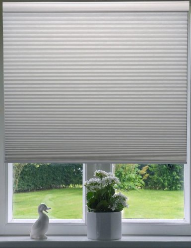"9/16"" Single Cell Blackout Cordless Cellular Shades, Color: White, Size: 33.5 X 60"