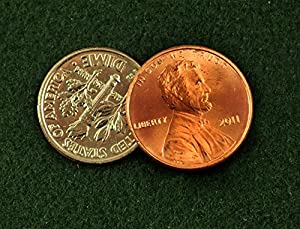 Martinka's Magic Disappearing Dime and Penny - Amazing Coin Trick