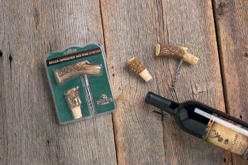 Antler Cork Screw Bottle Opener Antler Kork Screw and Cork for Wine Bottle Cabin Kitchen Decor (Resin Antler)